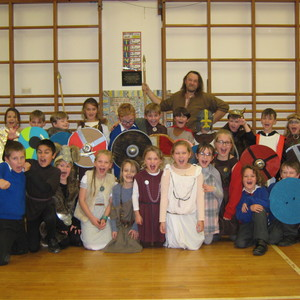 Year 3, 4 and 5 were Vikings for the day...